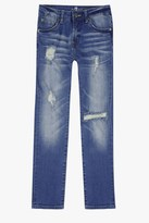 7 For All Mankind Boys 8-16 Slimmy Slim Straight 5-Pocket Stretch Denim Jeans In Eastern Light