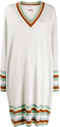 Loewe Striped Trim Knitted Dress