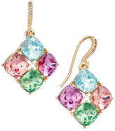 Charter Club Gold-Tone Multi-Crystal Diamond-Shape Drop Earrings, Only at Macy's