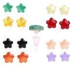 Earrings Lot Studs, Acrylic Flower Earring 16 Pieces Earring Set Stud on Nylon Posts