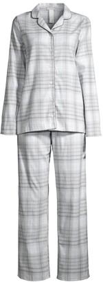 Hanro Edda 2-Piece Flannel Pajama Set