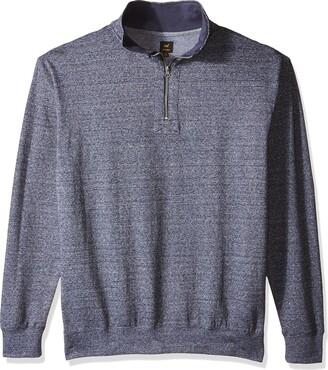Lee mensLM36LK212xSweater Pullover Mock Neck Quarter Zip Regular Big Tall Long Sleeve Henley Shirt - Blue - XXL