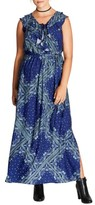 City Chic Plus Size Women's Patchwork Print Maxi Dress