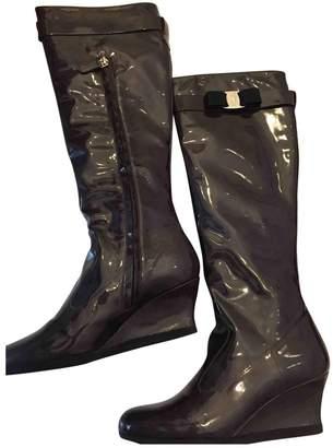 Salvatore Ferragamo Green Patent leather Boots
