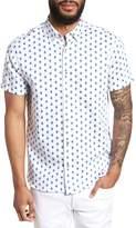 Ted Baker Sineral Trim Fit Short Sleeve Sport Shirt