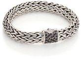 John Hardy Silver Large Chain Bracelet with Black Sapphire