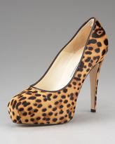 Brian Atwood Maniac Leopard-Print Pump