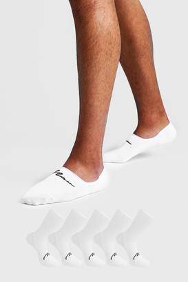 boohoo MAN Signature 5 Pack Invisible Socks