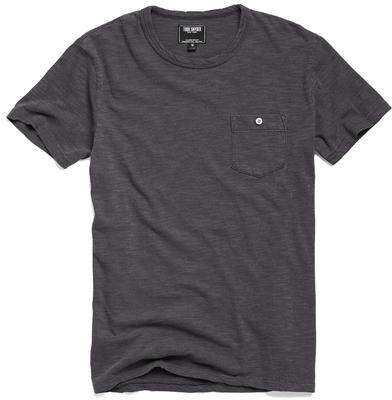 Todd Snyder Classic Button Pocket T-Shirt in Charcoal