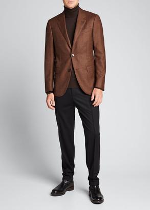 Ermenegildo Zegna Men's Solid Wool Jogger Trousers