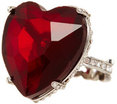 Betsey Johnson Red Heart Ring - Size 7