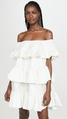Azeeza Off Shoulder Tiered Mini Dress