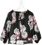 Versace floral print blouse