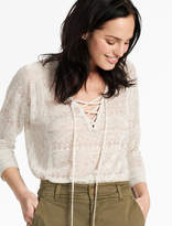 Lucky Brand Lily Lace Up Pullover