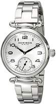 Akribos XXIV Women's AK806SS Quartz Movement Watch with Silver Dial and Stainless Steel Bracelet