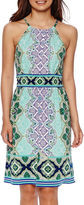 London Times London Style Collection Sleeveless Paisley Print Dress