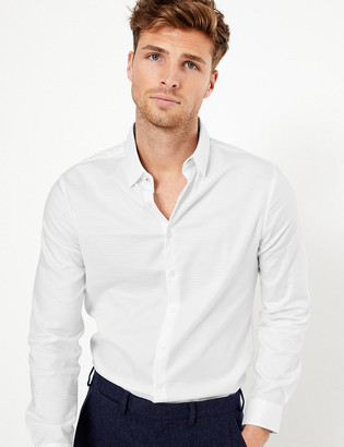 Marks and Spencer Slim Fit Textured Shirt