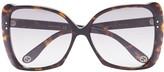 Gucci Havana oversized square sunglasses