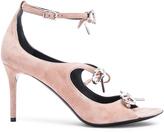Balenciaga Suede Bow Sandals in Sienne Beige