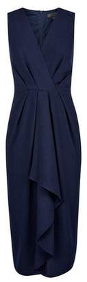 Dorothy Perkins Womens **Luxe Navy Pleated V