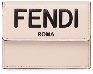 Fendi Logo-Print Trifold Wallet