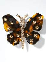 Banana Republic Tortoise Butterfly Brooch