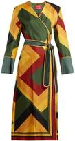 F.R.S - FOR RESTLESS SLEEPERS Dolos colour-block silk wrap-dress
