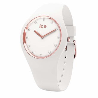 Ice Watch Ice-Watch - ICE cosmos White Rose-gold - Women's wristwatch with silicon strap - 016300 (Small)