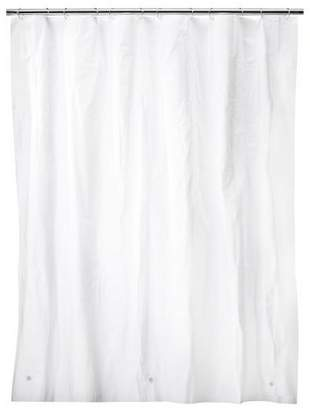 Room Essentials Solid Super Soft PEVA Shower Liner White