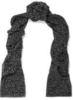 Saint Laurent Printed Wool Scarf - Black