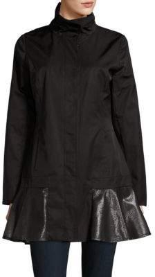CeCe Flared Panelled Rain Jacket