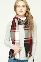 Forever 21 FOREVER 21+ Flannel Plaid Oblong Scarf