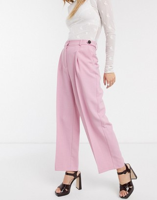 Topshop tailored trousers in pink