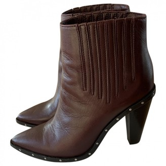IRO Fall Winter 2018 Burgundy Leather Ankle boots