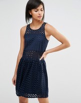 Vero Moda Broderie Drop Waist Dress