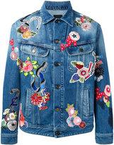Saint Laurent embroidered denim jacket - men - Cotton/Polyester - XXS