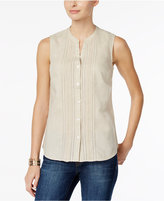 Charter Club Petite Crochet-Trim Blouse, Only at Macy's