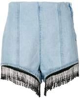 MSGM beaded fringe shorts