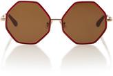 Rosie Assoulin Large Octagon Sunglasses
