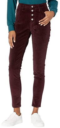 Levi's(r) Womens 721 High-Rise Button Front Skinny (Malbec Luxe Cord) Women's Casual Pants
