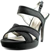 Adrianna Papell Ansel Open Toe Canvas Sandals.