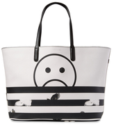 Marc by Marc Jacobs Metropoli Unsmiley Stripes Leather Travel Tote