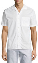 ATM Anthony Thomas Melillo Cuban Short-Sleeve Button-Front Shirt, White