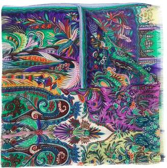 Etro Paisley-Print Silk Scarf