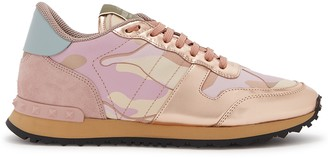 Valentino Runner camouflage-print canvas sneakers