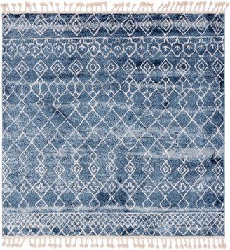 Unique Loom Dark Blue Tribal Titan 7' 7 x 7' 7 Square Rug