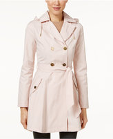 Laundry by Shelli Segal Hooded Double-Breasted Trench Coat