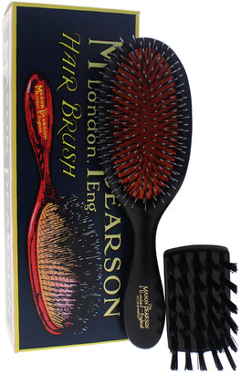 Mason Pearson 2Pc #Bn3 Dark Ruby Handy Mixture Bristle & Nylon Brush