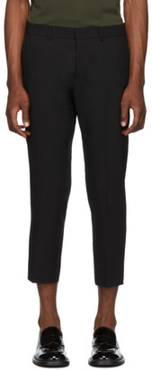 Ami Alexandre Mattiussi Black Cropped Fit Trousers