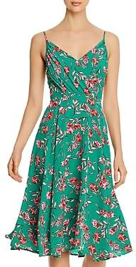 Yumi Kim Vienna Silk Floral Print A-Line Dress